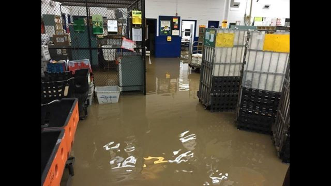 Flooded post office